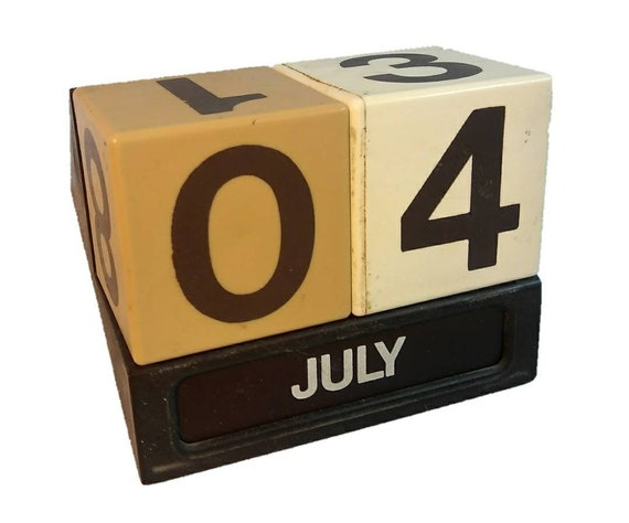 RARE 1970's Vintage Office Date Cube Calendar - MEDICAL OFFICE