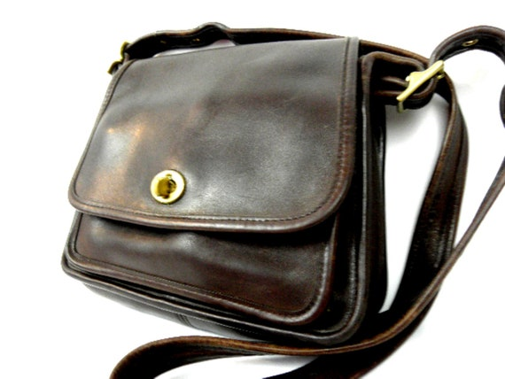 AWESOME Brown Leather Coach Legasy Vintage Shoulder Bag USA made in 1998