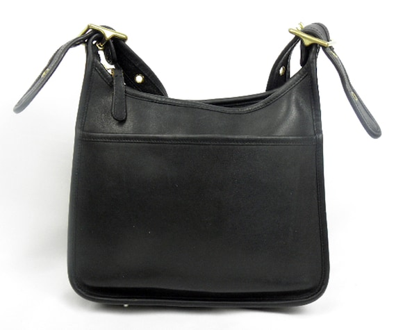 Made in 1993 Coach LEGACY - Black Glove Tanned Leather Vintage Coach purse cross body bag