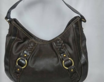 RARE Vintage Tommy Hilfiger Large Chocolate Brown Tote Purse Bag from the '90's