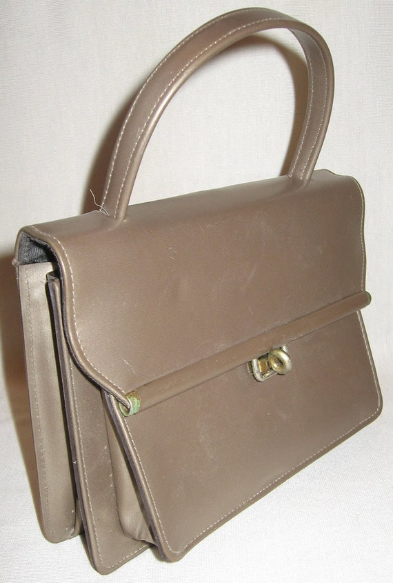 PRICE REDUCED Vintage Purse Modernism Bronze Evening Bag from Fifties