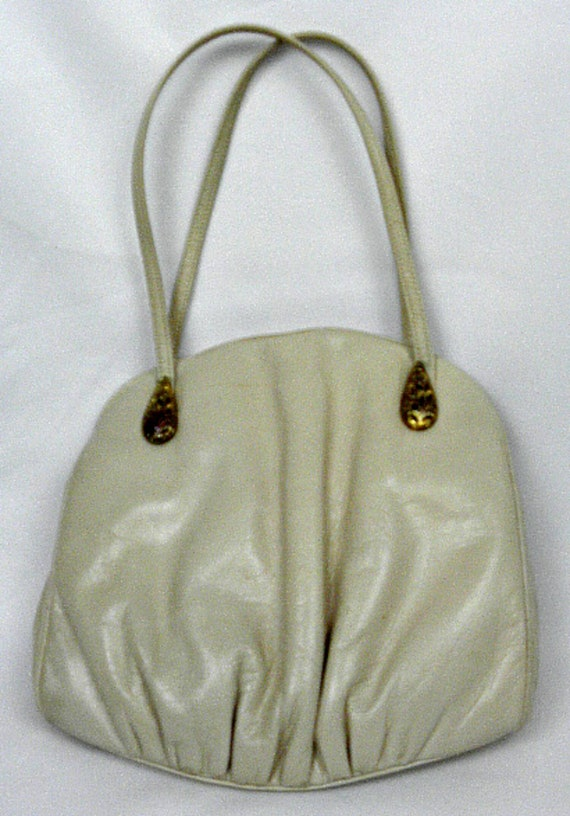 Original by Holzman Vintage Bone Soft  Leather Handbag
