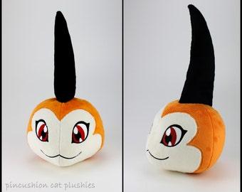 Tsunomon plushie - made to order