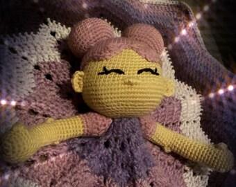 Shades of Lavender Baby Lovey, Cuddle Cutie, crochet lovey, star blanket