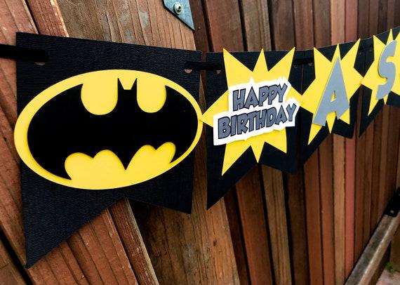 Superhero Birthday Personalized Banner