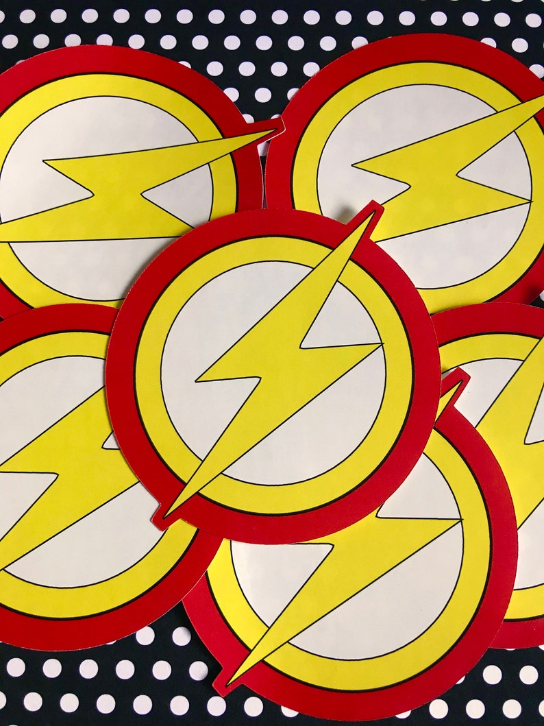 Flash inspired die cut stickers custom personalized