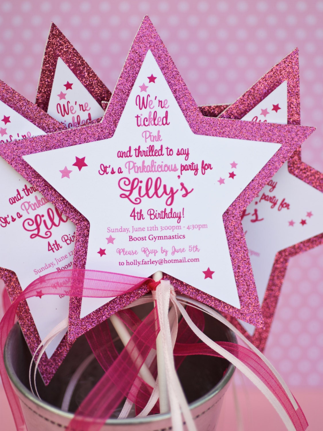 Princess Star Wand Invitations | Etsy