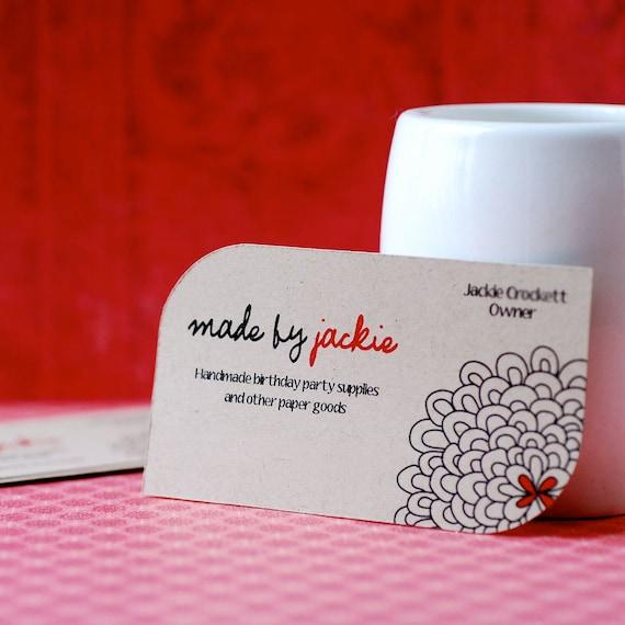 Custom leaf die cut business cards set of 100 etsy image 0 colourmoves