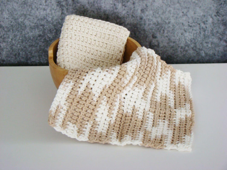 Crochet paño Spa conjunto de tela de algodón lavado | Etsy