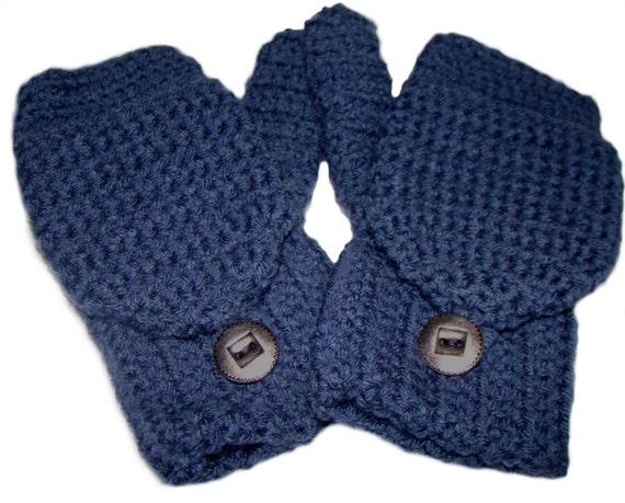 Denim blau Handschuhe Cabrio fingerlose Handschuhe häkeln | Etsy