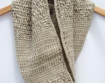 Barrel Cowl Tunisian, Crochet Circle Scarf, Infinity Scarf, Cowl Neckwarmer, Fall Fashion, Women's Circle Scarf, Crochet Cowl, Barrel Scarf