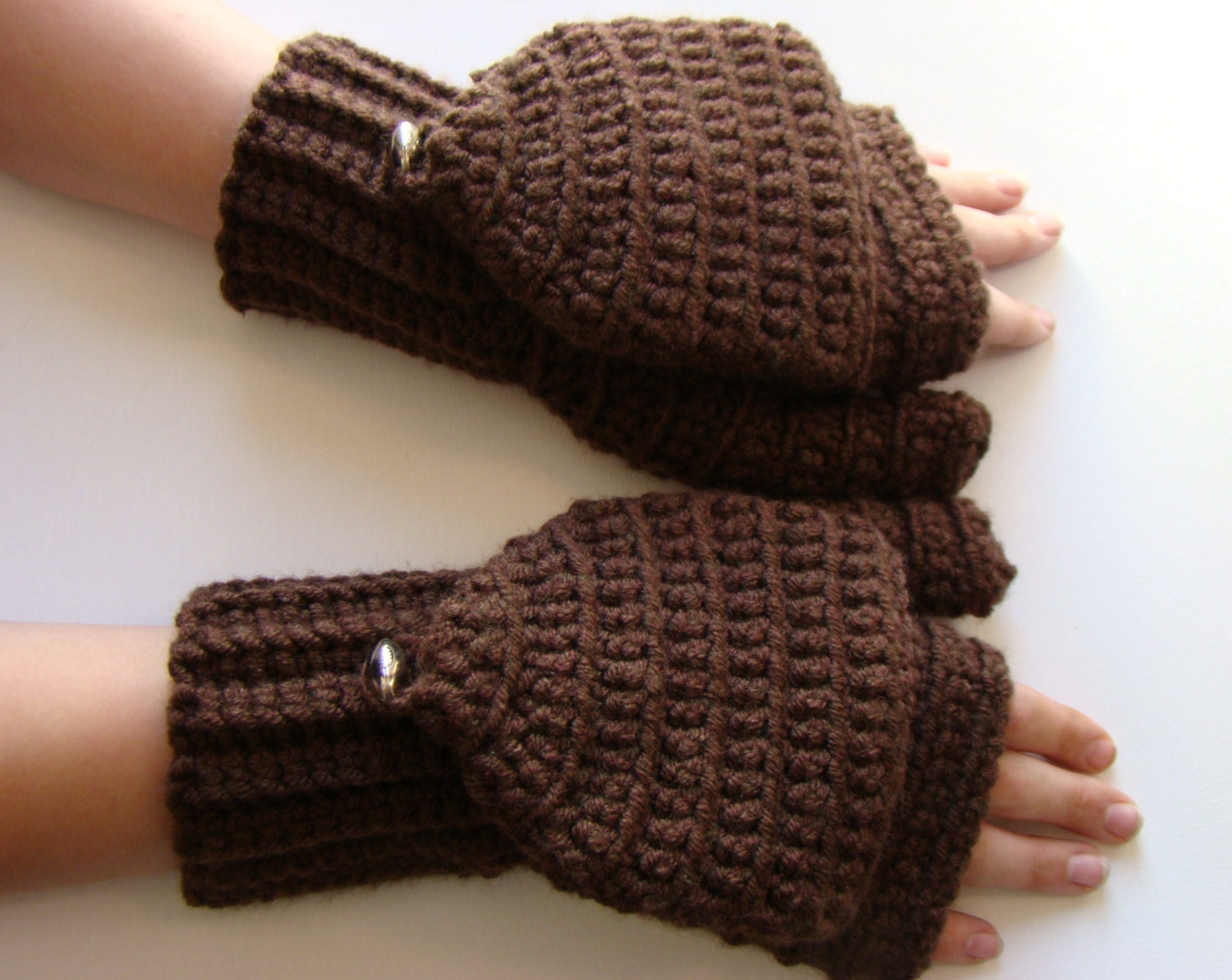 Convertible Mittens Mens Fingerless Mitts Football Brown Etsy