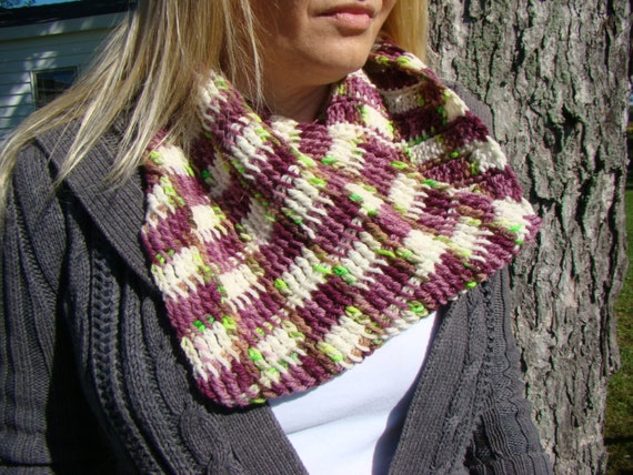 Instant Download Tunisian Crochet Pattern Circle Scarf Etsy