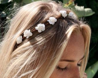 Dainty Flower crown, flower headband, rose crown, festival flower crown, wedding flower crown,  , flower halo