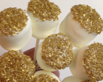 Edible Wedding Favors Chocolate Dipped Marshmallows Gold gluten free