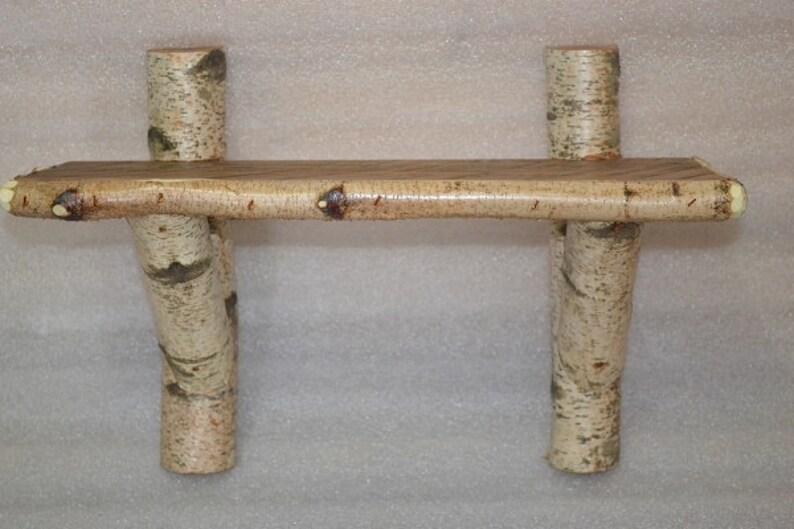 Birch Log and Barn Wood Shelf image 0