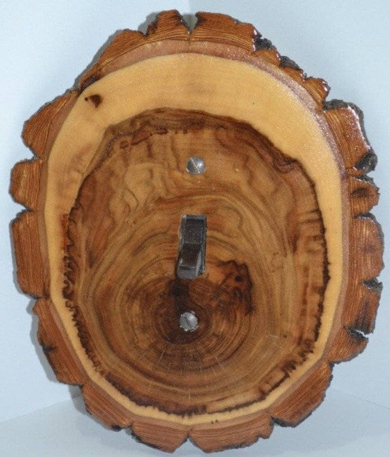 Log Slice Light Switch Receptacle Rocker Plate Covers 1 Toggle