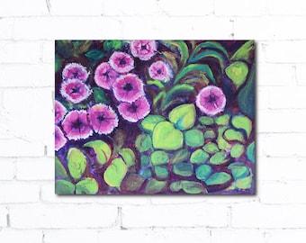 Original Dianthus Flower Painting