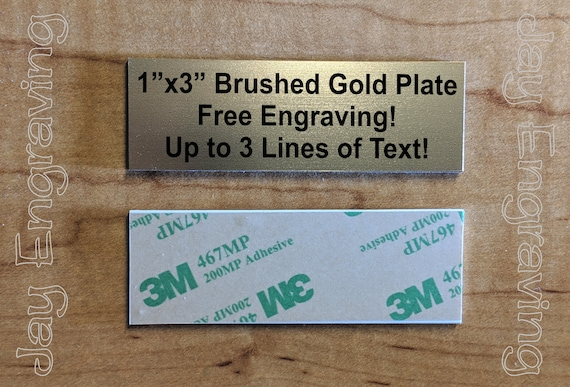 Custom Engraved 1x3 Plate \ Adhesive-Backed Personalized Customized Sign Plaque