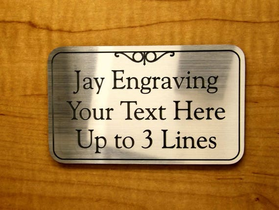 Engraved 2x2 Red RING BELL Plastic Tag Sign PlateDoorbell Plate Door Plaque