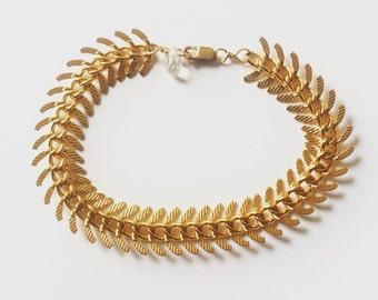 Gold Zipper Bracelet 14K gold plated, simple gold bracelet, edgy bracelet, also available in silver