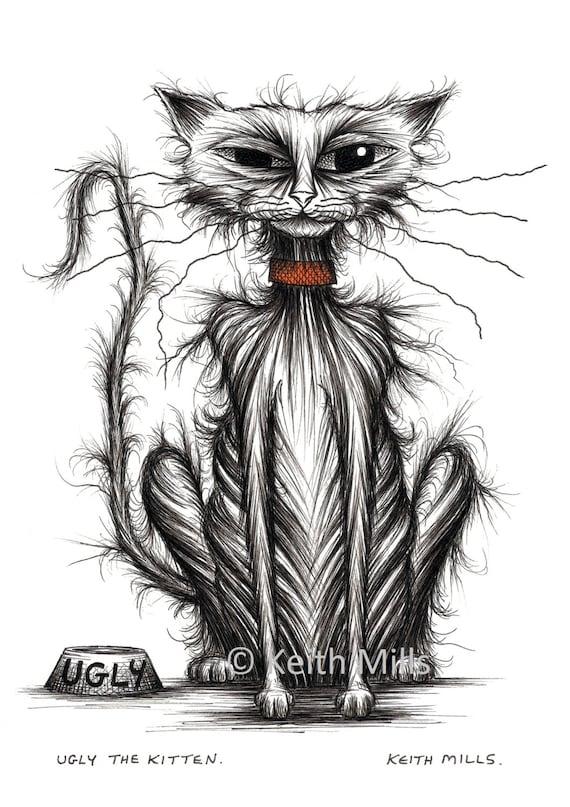 Kitty No.34 \u2013 A4 Limited Edition Print