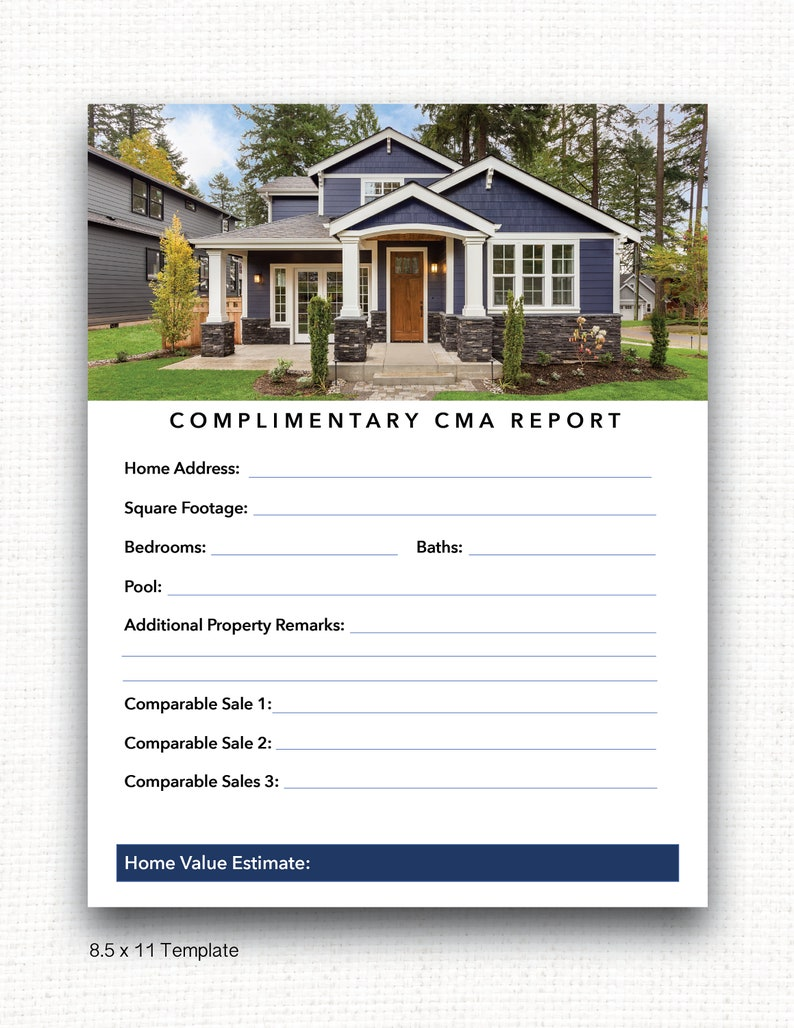 Real Estate Market Report Template, PowerPoint & Adobe Acrobat, Instant  Download