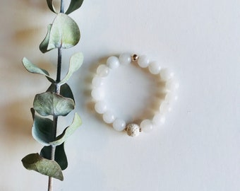 Essential Oil Diffuser Bracelet,Quartz, Mala Bracelet, Yoga Bracelet, Gemstone Bracelet, Meditation Bracelet, Crystal Healing,Spiritual Gift