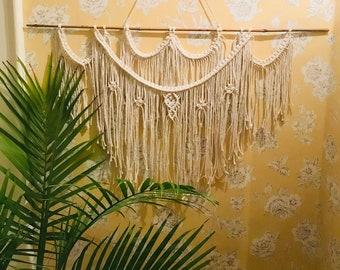 Large Macrame Wall Hanging, Boho, Bohemian, Macrame, Wall Hanging, Fringe