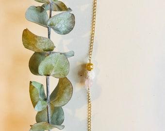 Essential Oil Diffuser Bracelet, Rose Quartz, Mala Bracelet, Yoga Bracelet, Gemstone Bracelet, Meditation Bracelet, Spiritual Gift