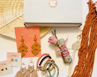 Surprise Gift Box, 99 for 150, Macrame, Sage Smudge, Crystal, Earrings, Bracelet, Subscription, Plant Hanger, Gemstone, Gift, Keychain, Mala