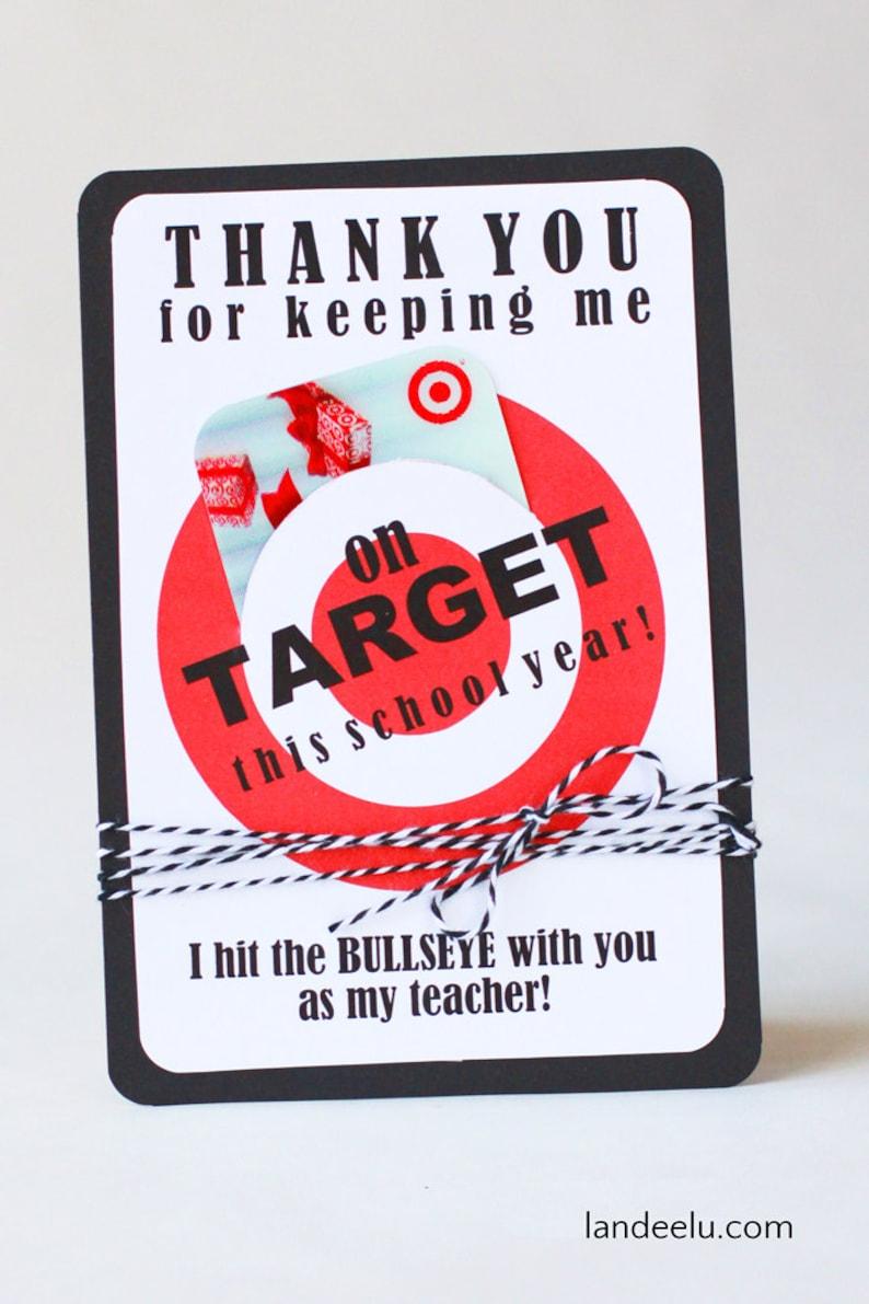 Teacher Appreciation Gift Card Holder  Printable image 0
