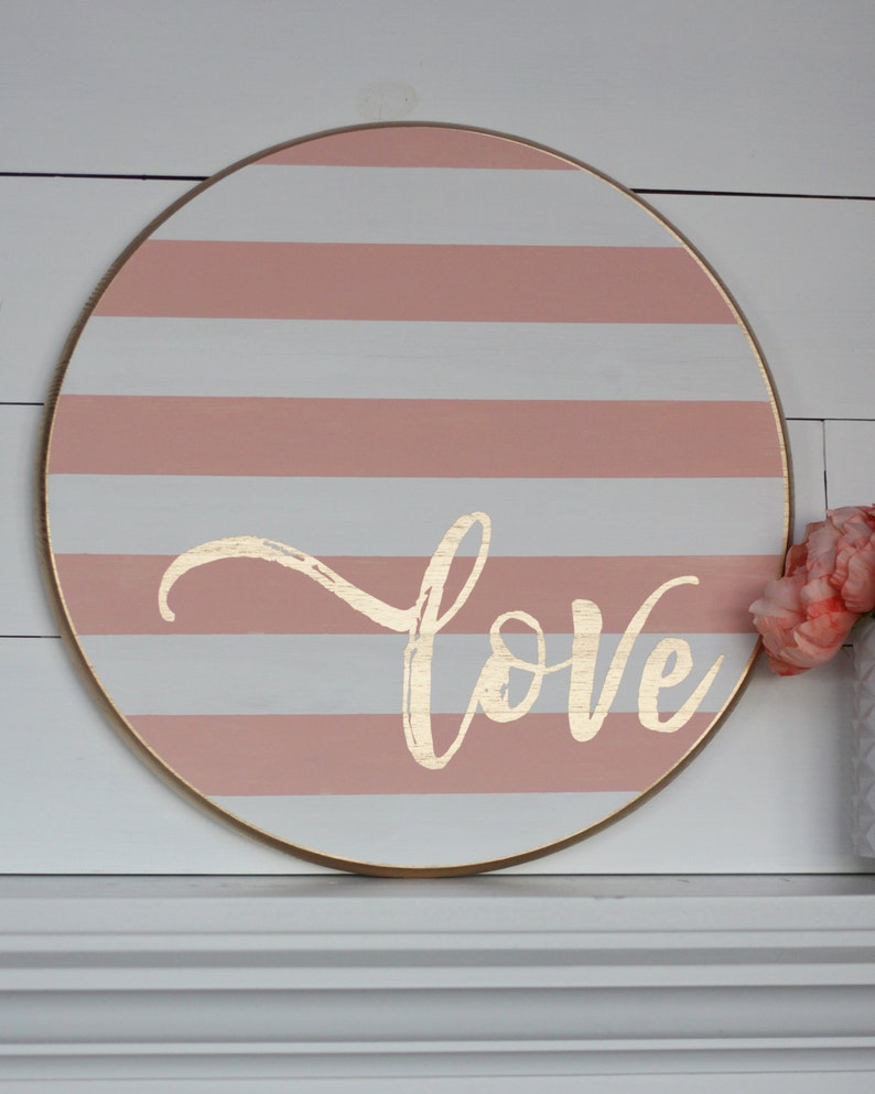 DIY Love FLOURISH Sign Stencil or Lettering Only image 0
