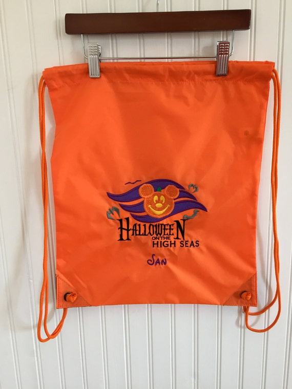 ba9e4056fd Disney Cruise Halloween on the High Seas Draw String Backpack