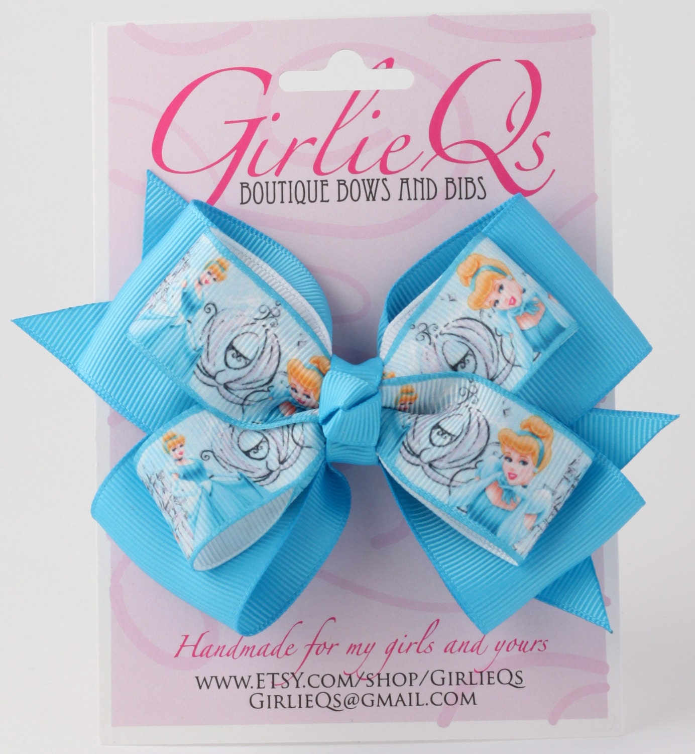 NEW CINDERELLA HAIR CLIPS LOT OF 6