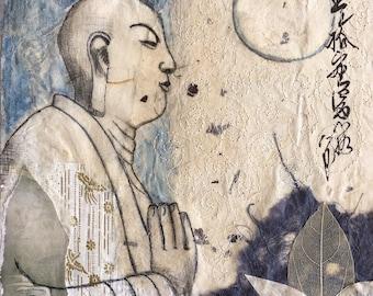 Uji Meditation - Japan - Giclee Print