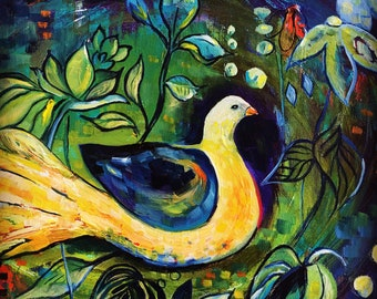 """Pack of six Christmas cards """"Peace Dove - Syria""""  from an oil painting by Clare Wassermann"""