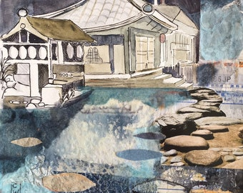 Kyoto Pool - Giclee Print