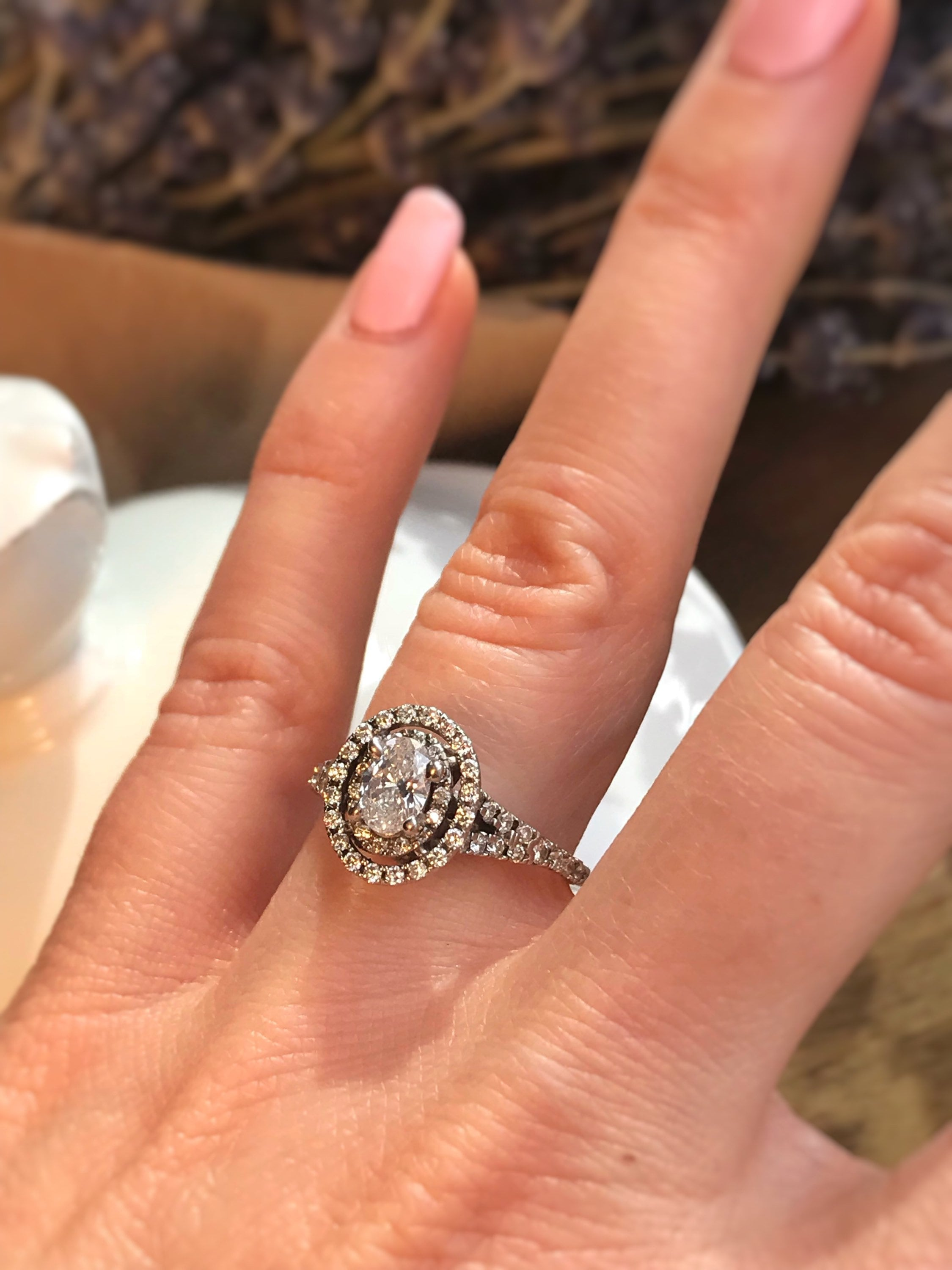 1 Carat Oval Diamond Engagement Ring. Offering Layaway.