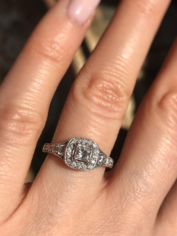 About 0 80 Carat Diamond Engagement Ring Offering Layaway Etsy