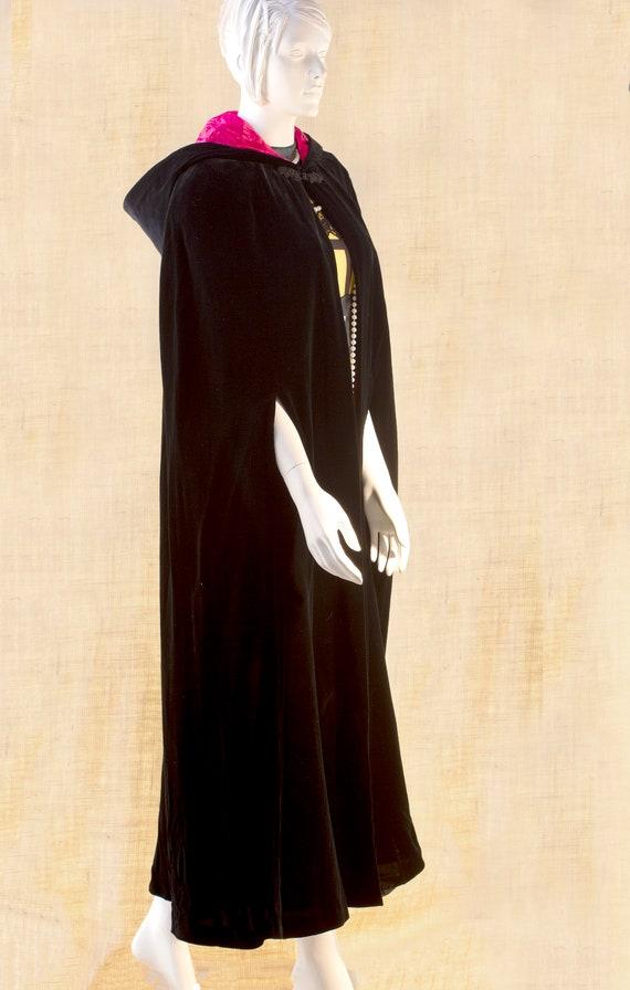 Laura Ashley, Long Black Cape, Cape Coat Velvet, … - image 9
