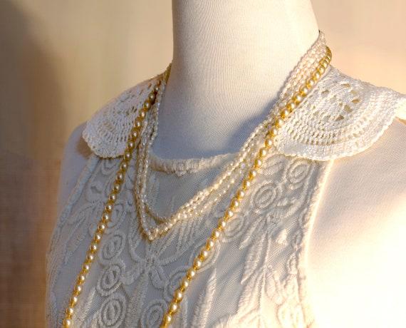 White Collar Necklace, Detachable Peter Pan Colla… - image 1