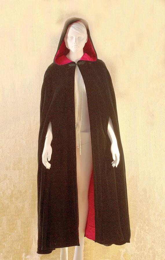 Laura Ashley, Long Black Cape, Cape Coat Velvet, … - image 2