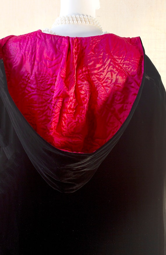 Laura Ashley, Long Black Cape, Cape Coat Velvet, … - image 4