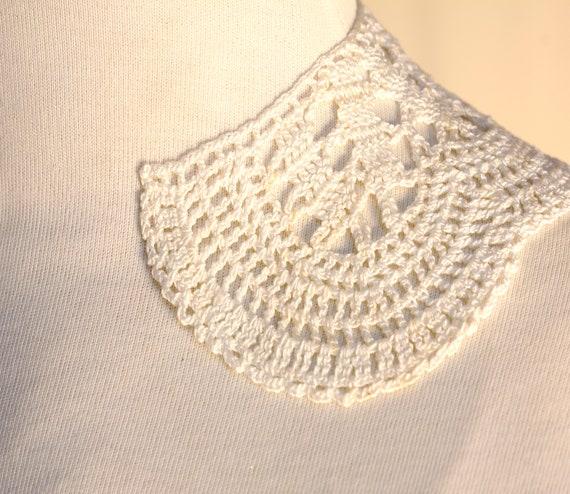 White Collar Necklace, Detachable Peter Pan Colla… - image 7