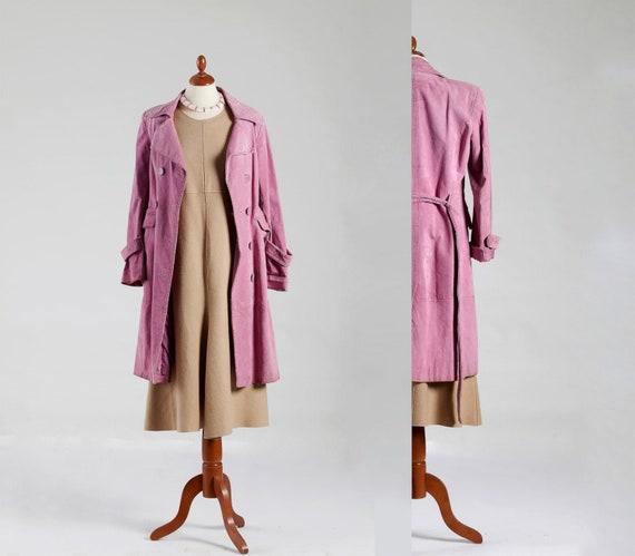 80s Maxi Coat , Coat Suede Leather , Coat Maxi Tre