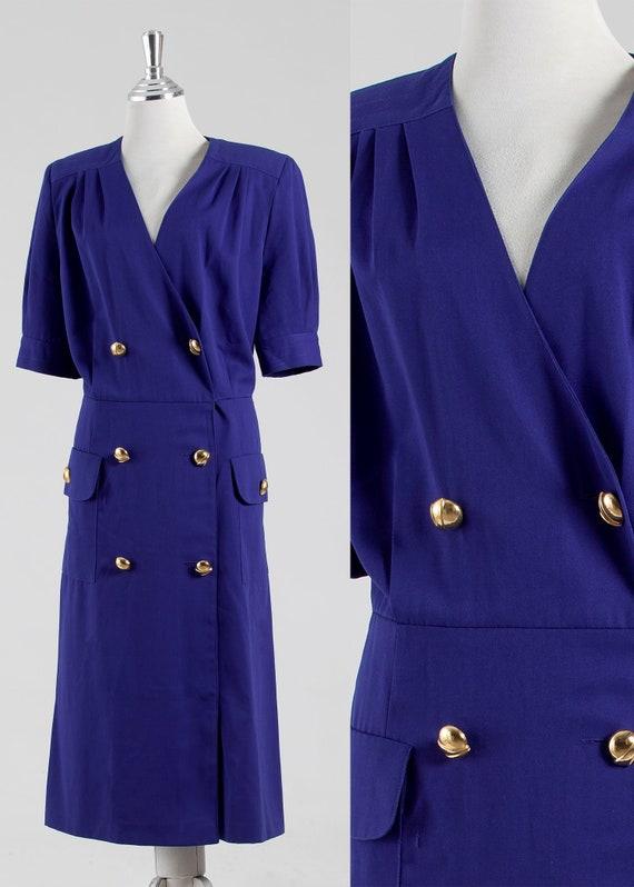Blue Cotton Day Dress, Dress Blue Cotton, Women Bl
