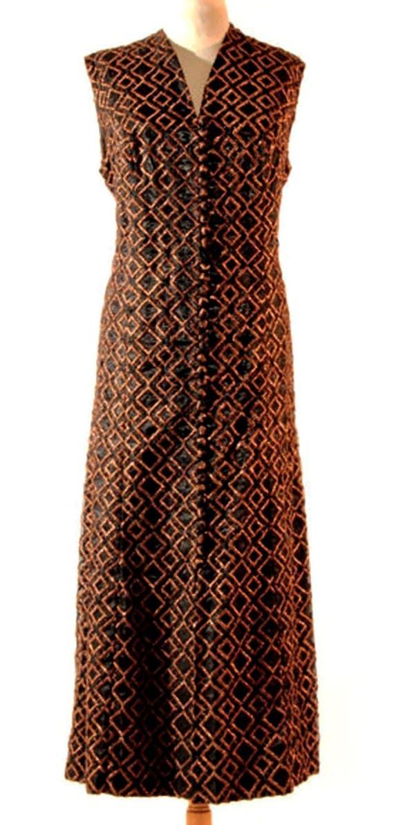 Copper Dress Metallic Copper Dress Party 70s Cockt