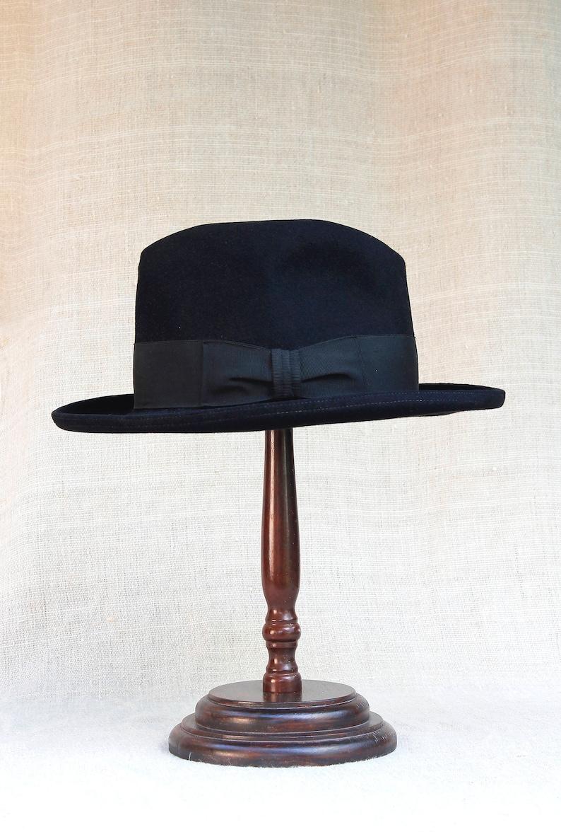 eff8db2bee5 Black Hat Mens Hat Fedora Hat Womens Hat Felt Black