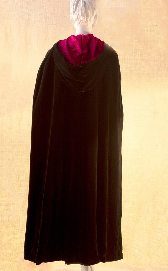 Laura Ashley, Long Black Cape, Cape Coat Velvet, … - image 6